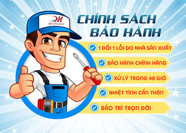Chính sách bảo hành khi mua hàng tại Quang Huy
