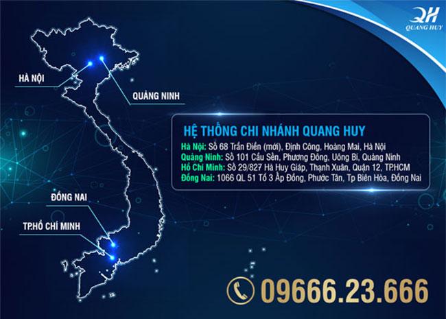 Hệ thống địa chỉ chi nhánh cơ sở Quang Huy
