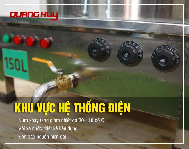 Hệ thống điện nồi phở 150 lit Quang Huy