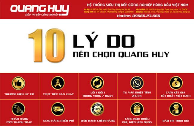 Lý do nên chọn mua thiết bị bếp tại Quang Huy