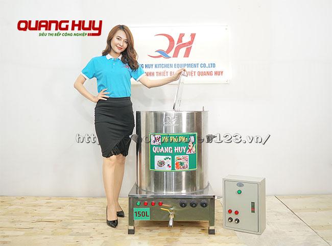 Mẫu nồi nấu phở bằng điện 150 lít kèm tủ điện điều khiển