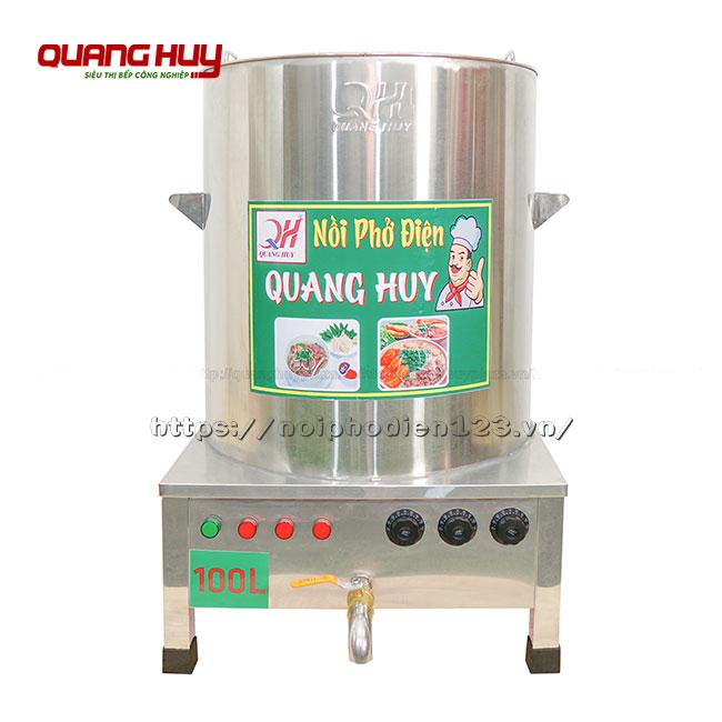 Nồi điện nấu phở 100 lit hàng gia công tại Quang Huy