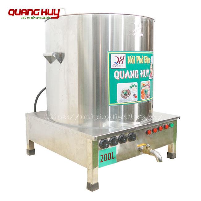 Nồi điện nấu phở hầm xương 200 lít Quang Huy