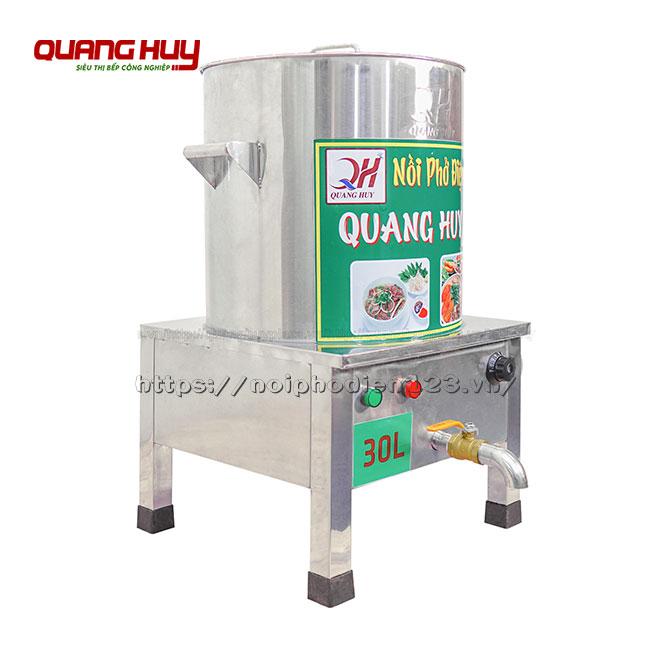 Nồi nấu phở bằng điện inox 30lit Quang Huy