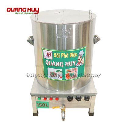 Nồi inox điện nấu phở 150 lit Quang Huy