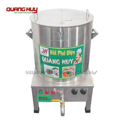 Nồi nấu nước lèo bằng điện 80 lít hàng gia công tại Quang Huy