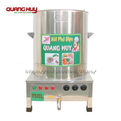 Nồi nấu phở inox điện 150 lit Quang Huy gia công