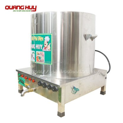 Nồi nấu phở điện 200 lít Quang Huy