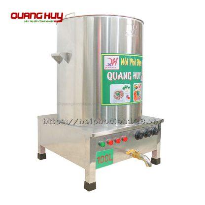 Góc nghiêng phải nồi nấu phở bằng điện 100 lit Quang Huy