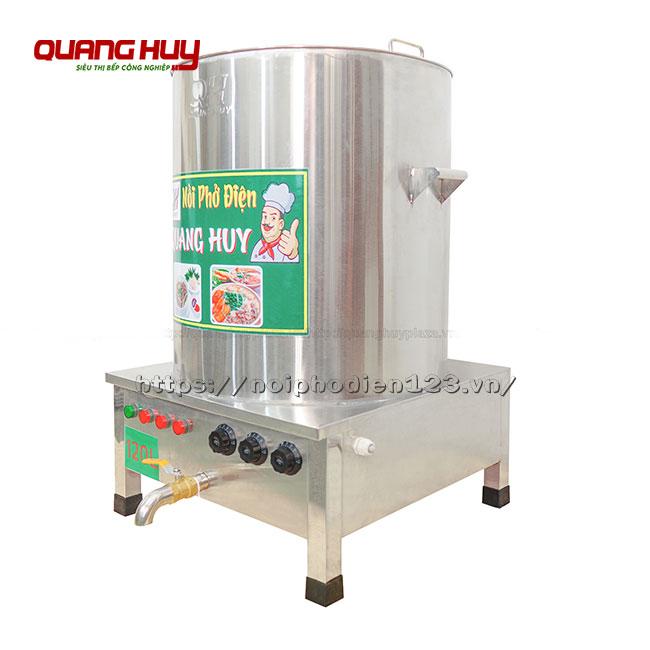 Nồi nấu phở inox điện 120 lit Quang Huy