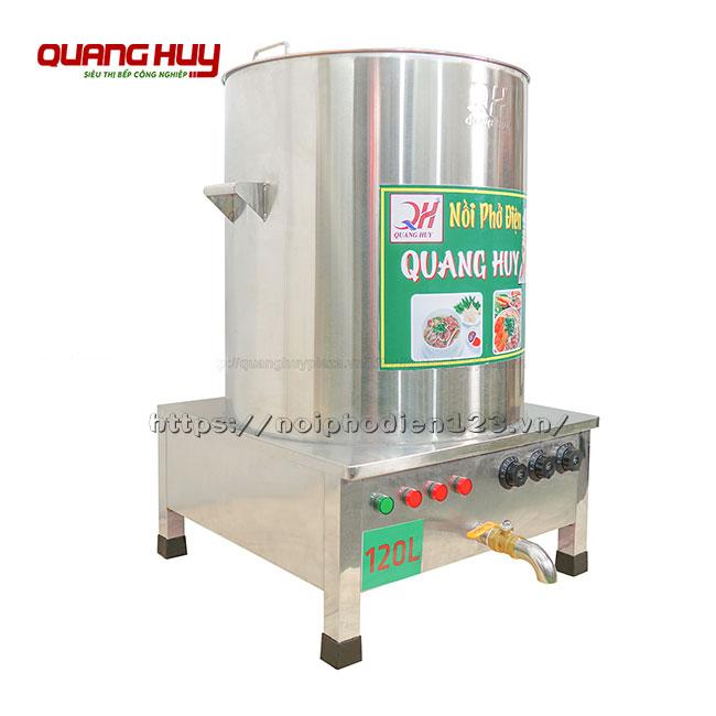 Nồi ninh xương nấu phở bằng điện 120 lit Quang Huy