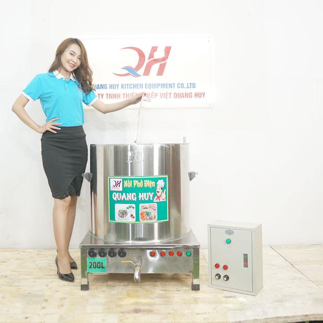 Mẫu nồi phở điện 200 lít kèm tủ điện nồi phở