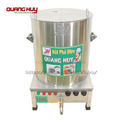 Nồi phở inox điện 120 lit Quang Huy