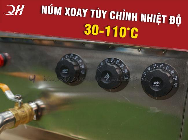 3 núm xoay điều chỉnh nhiệt độ từng thanh nhiệt