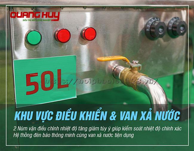 Van xả nước nồi phở điện 50 lit tiện dụng