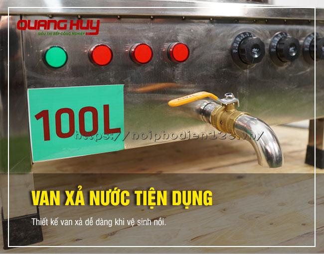 Van xả nước nồi phở 100 lít Quang Huy