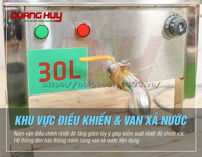 Van xả nước nồi phở điện 30 lit Quang Huy