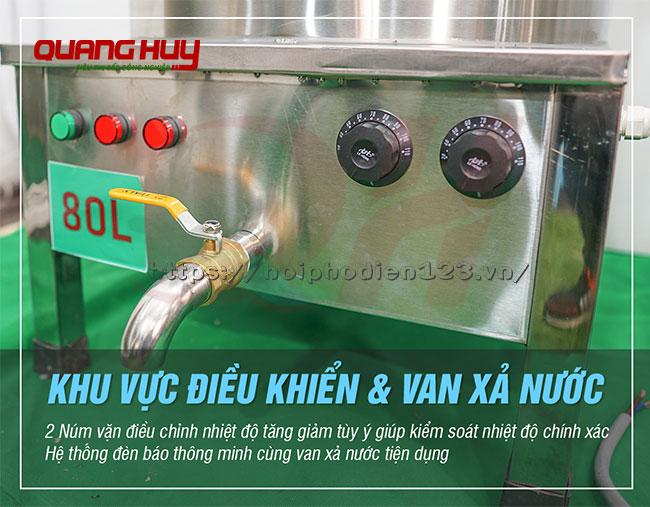 Van xả nước nồi phở điện inox 80 lit