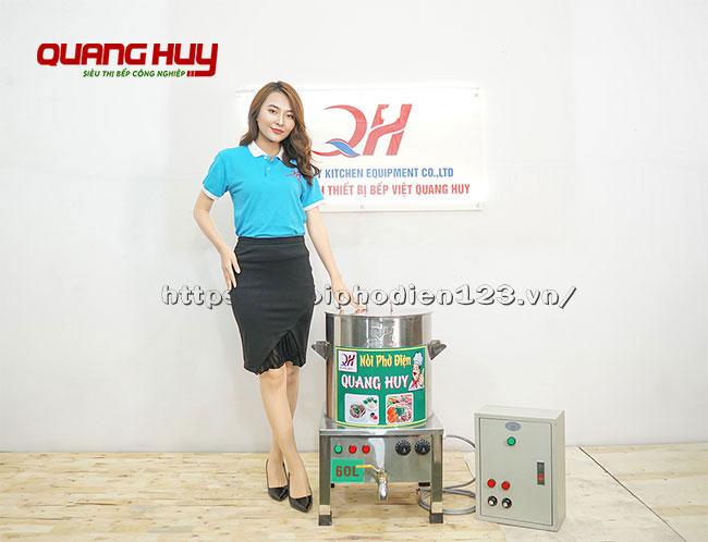 Mẫu bếp điện nấu phở 60 lit kèm tủ điện điều khiển