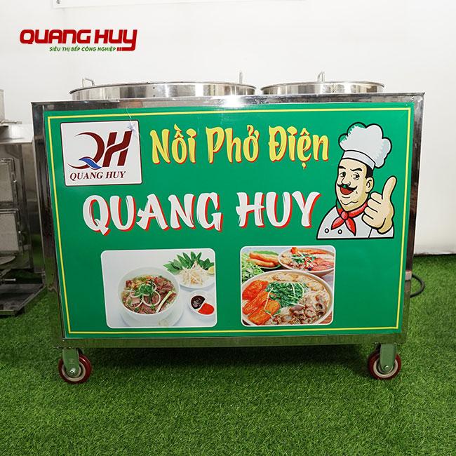Bộ 2 nồi điện nấu phở chung bệ Quang Huy