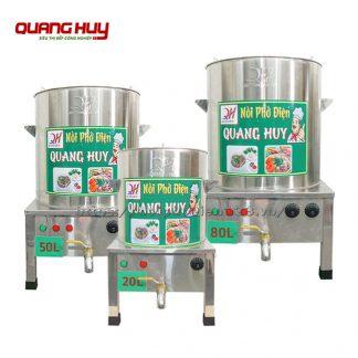 Bộ nồi inox nấu phở điện 20-50 -50 lít Quang Huy
