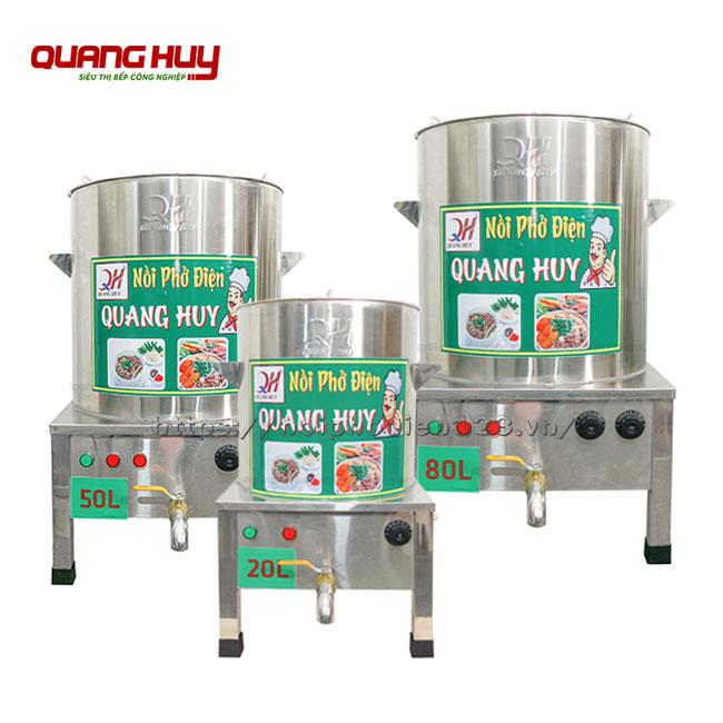 Bộ nồi inox nấu phở điện 20-50 -50 lit Quang Huy