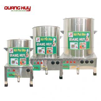 Bộ nồi điện nấu phở 30 - 70 - 100 Lít Quang Huy cho quán phở quy mô vừa phải