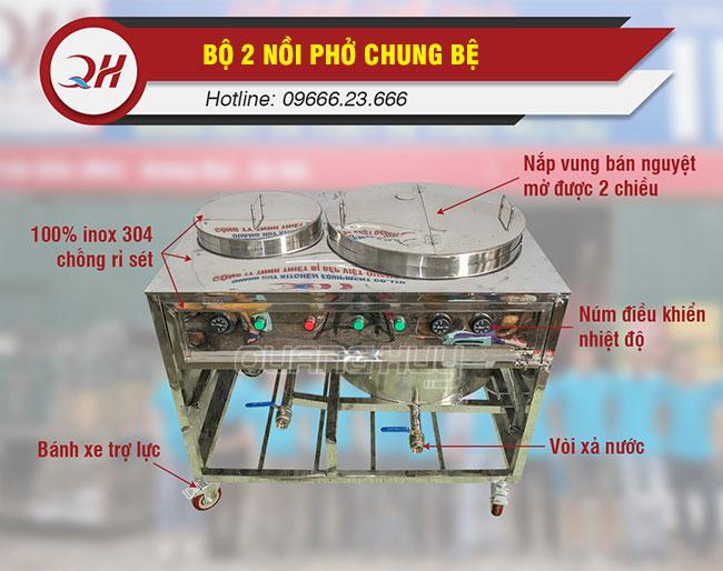 Chi tiết bộ phận bộ nồi phở chung bệ Quang Huy