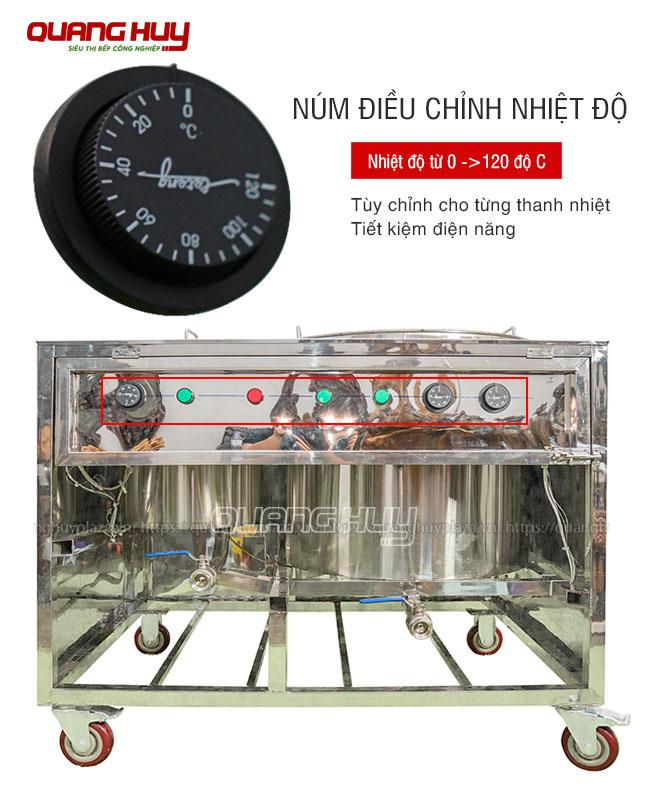 Hệ thống nhiệt độ nồi phở chung bệ Quang Huy