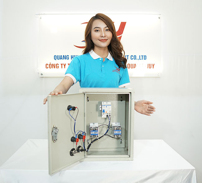 Hộp điện điều khiển nồi phở điện Quang Huy