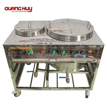 Chất liệu nồi phở là inox 304 3 lớp dày, bền, sáng bóng