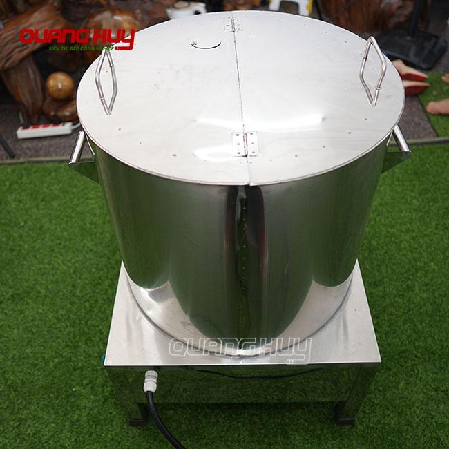 Mặt sau nồi phở điện 2 ngăn Quang Huy