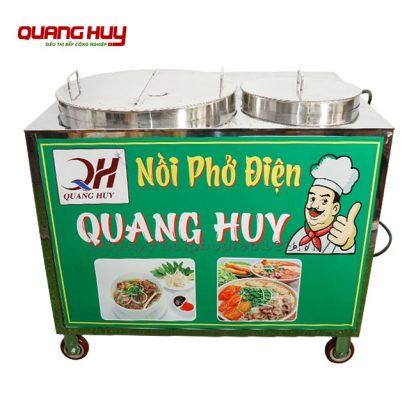 Bộ 2 nồi nấu phở chung bệ có bánh xe Quang Huy