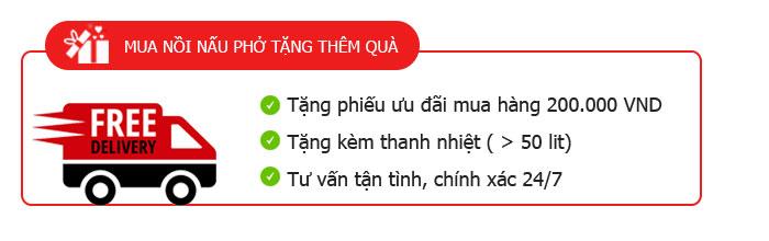 Tặng thêm quà khi mua nồi nấu phở điện Quang Huy