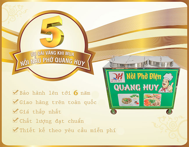 Chương trình ưu đãi khi mua bộ nồi phở Quang Huy