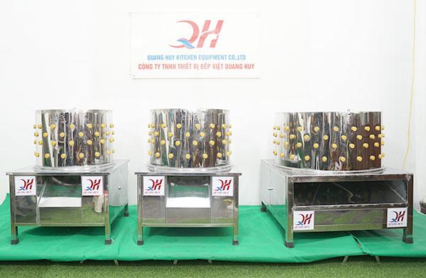 Máy vặt lông gà phi 50cm, 60cm, 80cm Quang Huy sản xuất