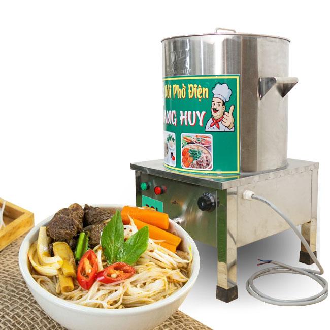 Nồi hủ tiếu Inox điện được các quán ăn lắp đặt phổ biến