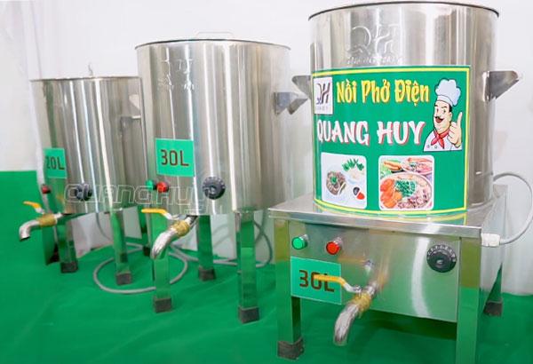Nồi phở Inox 304 bằng điện cơ khí Quang Huy sản xuất và phân phối