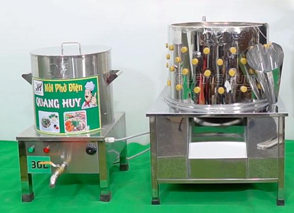 Nồi nhúng gà+ Máy vặt lông gà vịt Quang Huy