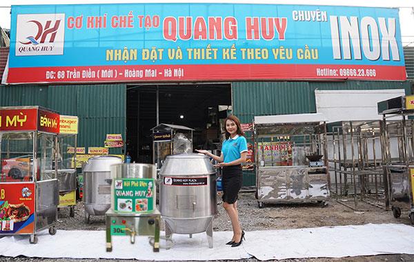Nồi phở, thiết bị bếp tại xưởng cơ khí Quang Huy
