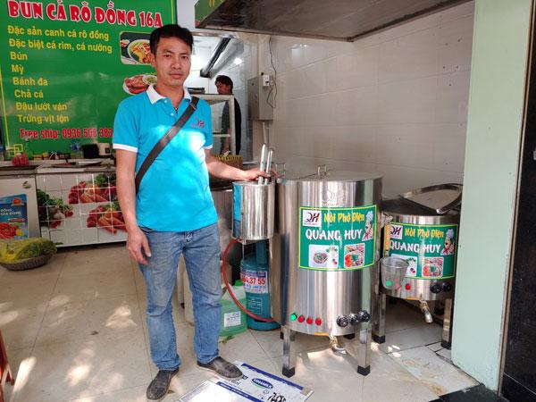Nồi điện nấu phở Quang Huy sự lựa chọn hàng đầu cho nhiều quán bún phở