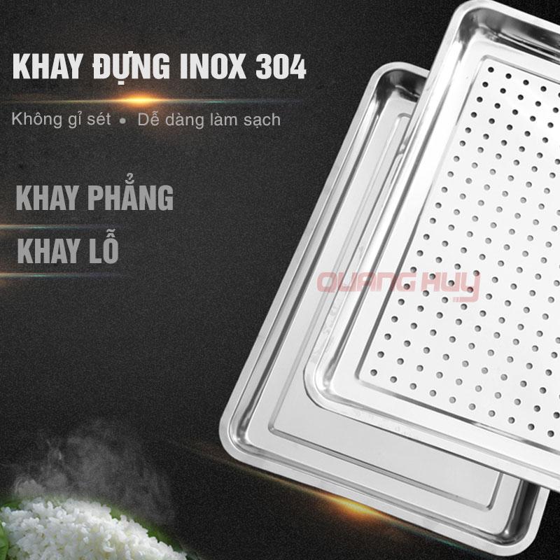 Khay đựng Inox 304 để gạo thực phẩm