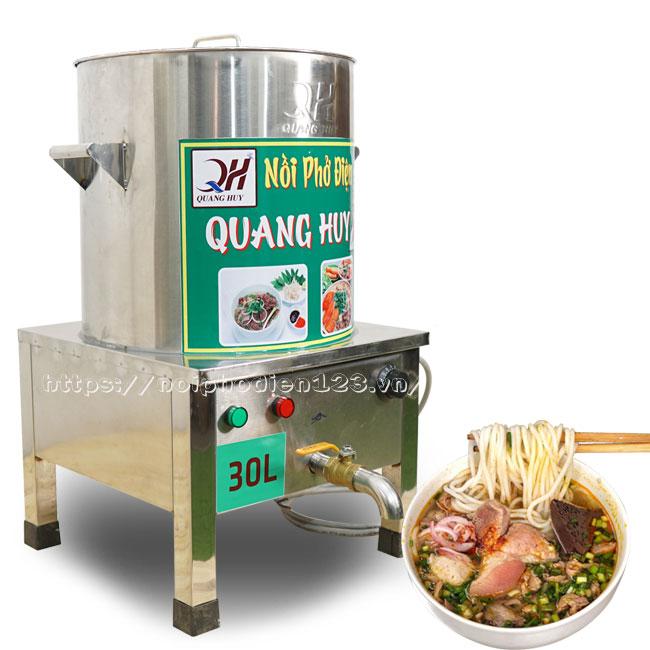 Nồi điện nấu bún bò Huế Quang Huy sản xuất và phân phối