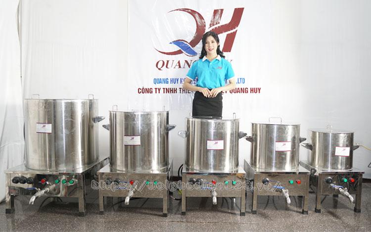 Dung tích nồi điện nấu nước lèo, nước dùng phở Quang Huy, giá nồi nấu nước lèo bằng điện