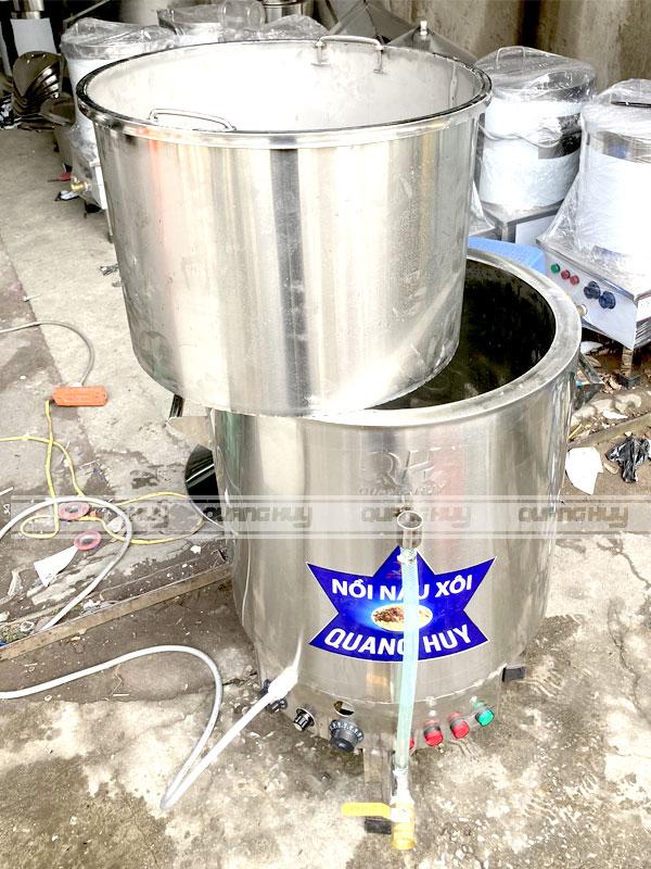 Nồi đồ xôi công nghiệp bằng điện Quang Huy