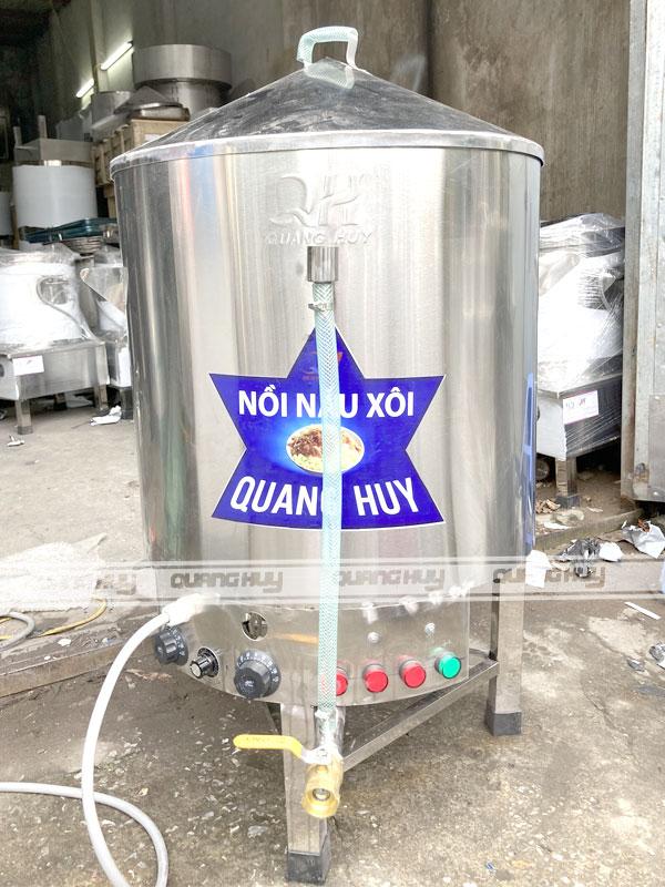 Nồi hấp xôi công nghiệp 1 tầng do Quang Huy sản xuất và phân phối