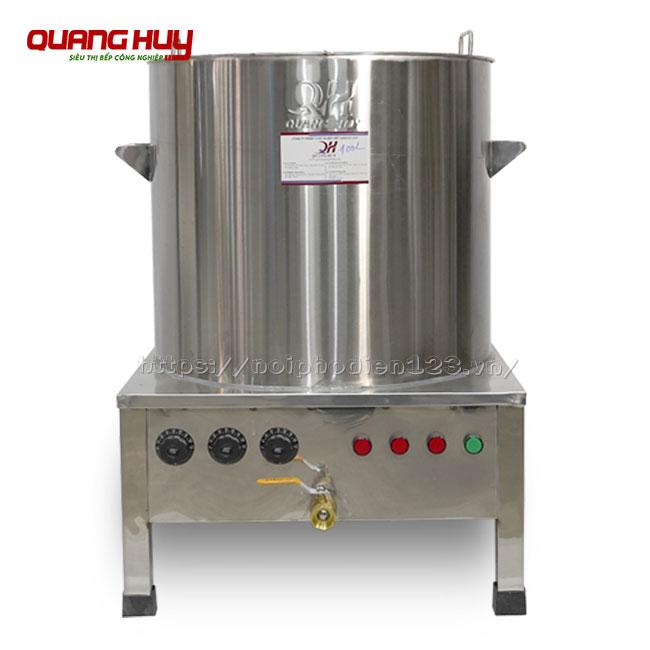 Nồi nước lèo điện Inox 304 Quang Huy, giá nồi nấu nước lèo bằng điện