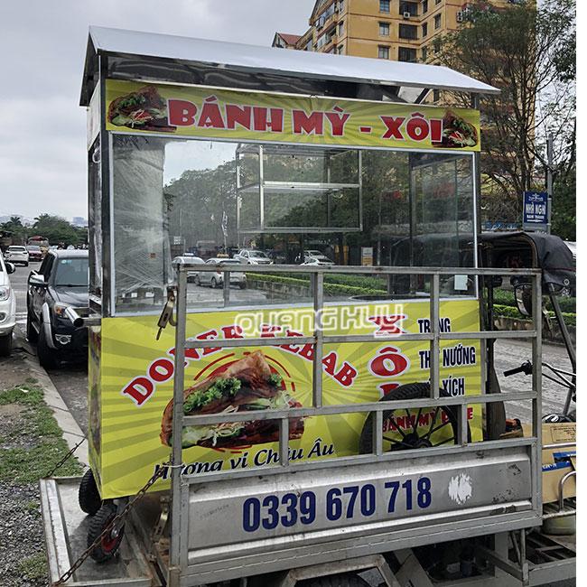Quang Huy giao xe bánh mì bán xôi Toàn quốc