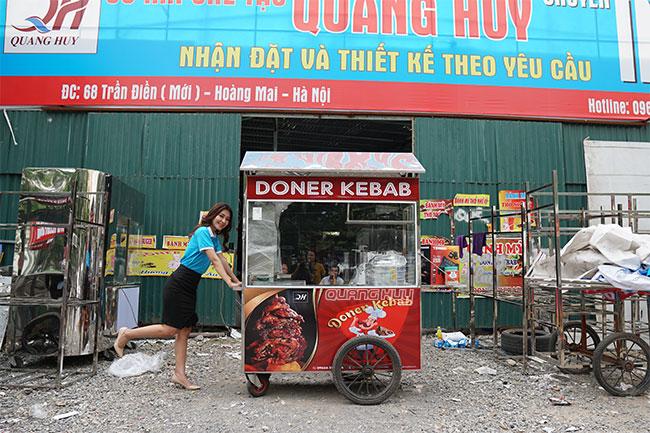 Quang Huy xưởng gia công xe bánh mì số 1 Toàn quốc