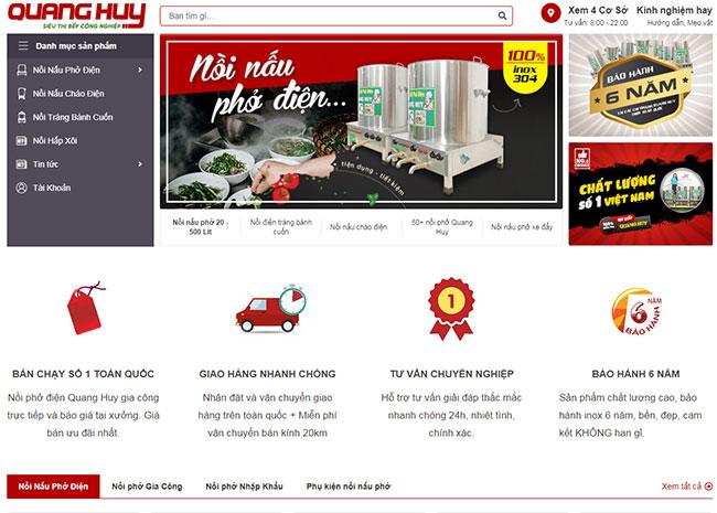 Website chính hãng nồi phở Quang Huy